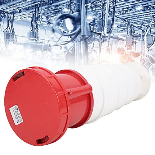 Enchufe industrial, enchufe de pared, enchufe industrial 380‑415V 5 pines 125A 3P + N + E IP67 Impermeable para ahorro de agua ferroviaria