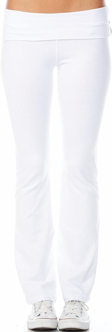 Active Basic Women's BASIC Yoga Pants (Small, White)