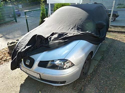 AMS Vollgarage Anti-Frost mit Spiegeltaschen für Seat Ibiza, wetterfeste Autoabdeckung für optimalen Frostschutz, Winterabdeckung mit Perfekter Passform, wasserfest & super leicht