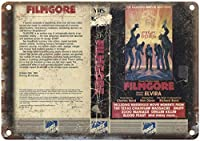 映画ゴアエビラフォースビデオウォールメタルポスターレトロプラーク警告ブリキサインヴィンテージ鉄絵画装飾オフィスの寝室のリビングルームクラブのための面白いハンギングクラフト