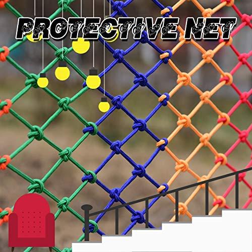 HJBhjb Farbe Nylon Flexible Netz for Garten Bepflanzung Dekoration Net Baumhaus Hammock Balkongeländer Schutznetz Foto-Wand-Decken-Dekoration Kinderschutz (Nylon) (Size : 1x1m=3.3x3.3ft)
