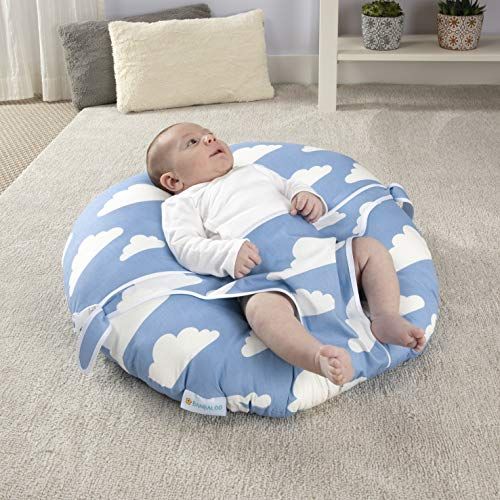BANBALOO - Newborn Lounger -Baby Bouncer - Bassinet for Babies-Infant Breathable Nest-Super Soft Cotton Cover/Portable and Washable Seat. (GREY)