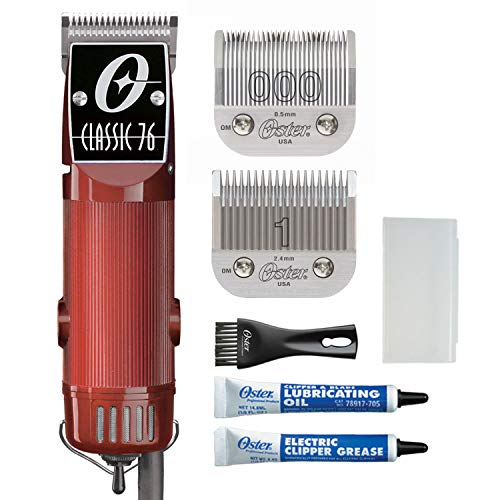 Oster Classic 76 Professional Hair Clippers For Barbers And Men, Hair Clipper Set, Burgundy