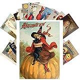 Postcard Set 24 cards CUTE HALLOWEEN Vintage Postcards Witches Black Cat Horror Pumpkin