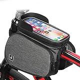 Bolsa con Marco Frontal para Teléfono Móvil para Bicicleta, Tubo Superior Impermeable para Bicicleta, Kit De Montaje para Teléfono Móvil En Bicicleta Y Bolsa para Teléfono Móvil Desmontable