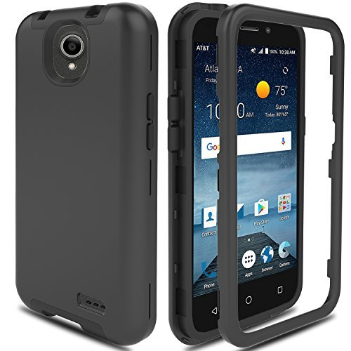 newest collection a22f5 de48c ZTE Maven 3 Case, ZTE Overture 3 Case, ZTE Prestige 2/Prelude Plus 4G LTE  Case AMENQ Hybrid 3 IN 1 Heavy Duty Shockproof Protection Rugged Rubber ...