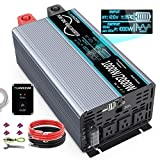 10. FLAMEZUM 1000W Continuous/2000W Peak Pure Sine Wave Inverter DC 12V to AC 110V Car Power Inverter with Remote Control 3 AC Outlets & 2A USB Output