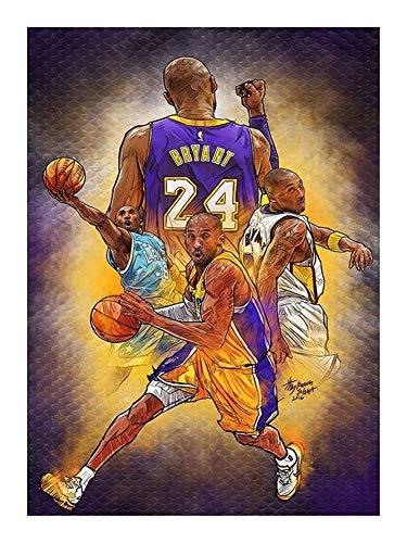 Puzzle-a NBA MVP Basketball Legend Jigsaw Pansket Fan Collection The Black Mamba Sports Bryant - 300/520/1000 Pezzo per Adulti Adolescente - Regalo Adatto per Adolescenti e Adulti