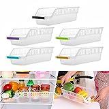 Rameng 2PCS Plastique Boîte Corbeilles de Rangement pour Conteneur Réfrigérateur...