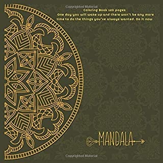 Mandala Coloring Book 120+ pages - One day you will wake up and there won't be any more time to do the things you've alway...