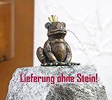 Rottenecker Bronzefigur, Skulpturen, Froschkönig Otto wasserspeiend, 11 cm hoch
