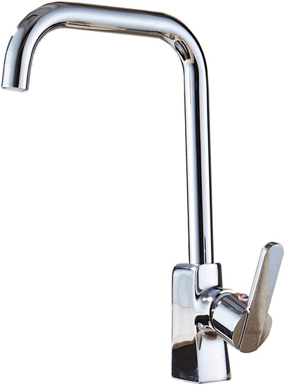 DYR Faucet Copper Faucet Kitchen Hot and Cold Water Tap redatable Faucet Brushed Stainless Steel Sink Lavatory