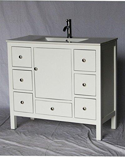 Where to buy 40' Inch Wood Single Sink Bathroom Vanity with