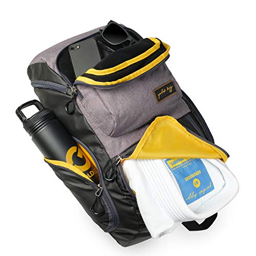 Gold BJJ Jiu Jitsu Backpack - Heavy Duty Gym Bag