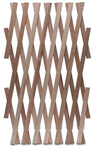 Windhager Hartholz-Spalier Rankhilfe Rankgitter Holzzaun Pflanzengitter zusammenfaltbar variabel verstellbar, 45 x 180 cm, beige, 05671