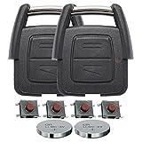 Repair Reparatur Satz Gehäuse Funkschlüssel Fernbedienung Autoschlüssel 2X 2 Tasten Gehäuse 4X Mikrotaster 2X CR2032 Batterie kompatibel mit Opel