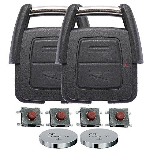 Repair reparatieset behuizing draadloze sleutel afstandsbediening autosleutel 2 X 2 toetsen behuizing 4 X microknop 2 X CR2032 batterij voor Opel