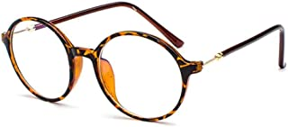 Inlefen Unisex large frame glasses computer mirror equipped with myopia glasses