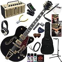 GRETSCH Electromatic エレキギター 初心者 入門 パラレル・トーンバー構造のホロー・ボディモデル レトロなデザインで多機能・高音質のYAMAHA THR5が入ってる大人の19点セット G5420TG LTD/BLK(ブラック)