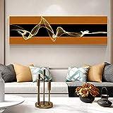 YWOHP Pintura de Lienzo geométrica Abstracta impresión de Cartel nórdico Arte Mural Pintura al óleo Sala de Estar decoración del hogar 180x60 cm Frameless