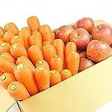 無農薬にんじん野菜セット(無農薬にんじん3kg+りんご2kg)訳あり