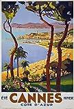 Kribee Poster, Vintage, 1930er-Jahre, Cannes Cote D'azur