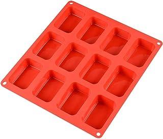 UG LAND INDIA Rectangle Pattern Design Food Grade Silicone Soap 12-Cavity Rectangle Bar Soap Mold