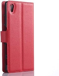 حافظة فليب عصرية جلدية بي يو لهواتف سوني اكسبيريا Z5 - احمر