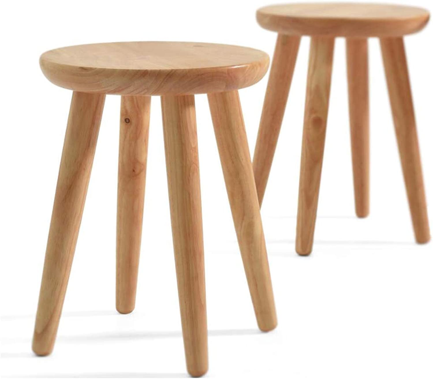 Solid Wood Stool ▏ Creative Round Stool ▏ Small Round Stool Dining Table Stool ▏ Fashion Dining Stool ▏ Low Stool Dressing Stool Home