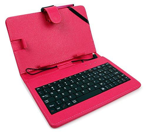 DURAGADGET Custodia Tastiera Rosa per Tablet di 7  - Connessione microUSB + Pennino Capacitivo - 2 Anni di Garanzia - Alta qualità
