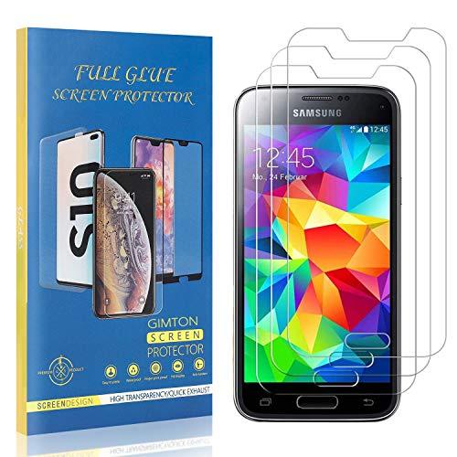 GIMTON Displayschutzfolie für Galaxy S5 Mini, 9H Härte Kratzfest Panzerglasfolie, Ultra Transparente Schutzfilm aus Gehärtetem Glas für Samsung Galaxy S5 Mini, 3 Stück