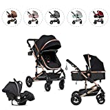 Kinderwagen 3 in 1 Komplettset Kombikinderwagen 3in 1 Set Babywanne &...