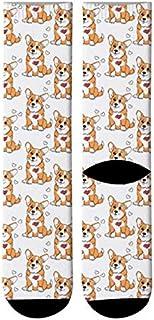 3 pares Calcetines Con Estampado De Animales De Dibujos Animados En 3D Calcetines De Equipo De León Hombres Calcetines Largos De Perro Tigre Divertidos Calcetines De Tubo Corgi De Tendencia Lind