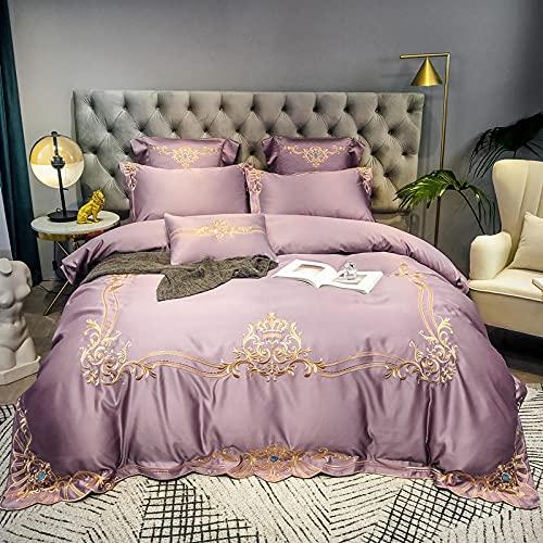 Juego De Funda NóRdica Negro,60 Rodillo de seda de satén, cama de seda, de algodón, algodón, color sólido, soltero, cama doble, un solo edredón especial es conjunto de zócalos de almohada-mi_1,8 m de