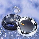 Danigrefinb Scales Mini 500g/0.1g Cenicero Retroiluminación Pantalla LCD Joyería Báscula Digital Electrónica - Negro 500g/0.1g