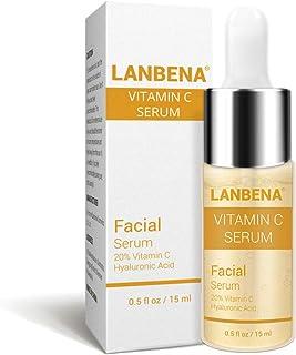 Suero de vitamina C con ácido hialurónico Suero facial hidratante antienvejecimiento Quite las manchas oscuras de la peca ...