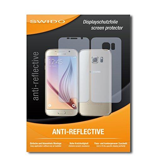 Schutzfolie für Samsung Galaxy S6 [2 Stück] SWIDO Anti-Reflex MATT Entspiegelnd, Hoher Festigkeitgrad, Blasenfreie Montage, Schutz vor Öl, Staub, Fingerabdruck & Kratzer / Folie, Bildschirmschutz, Bildschirmschutzfolie, Panzerglas-Folie