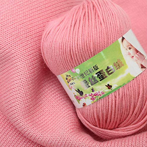 Hilo de algodón de leche para bebés al por mayor seda bebé-rosa