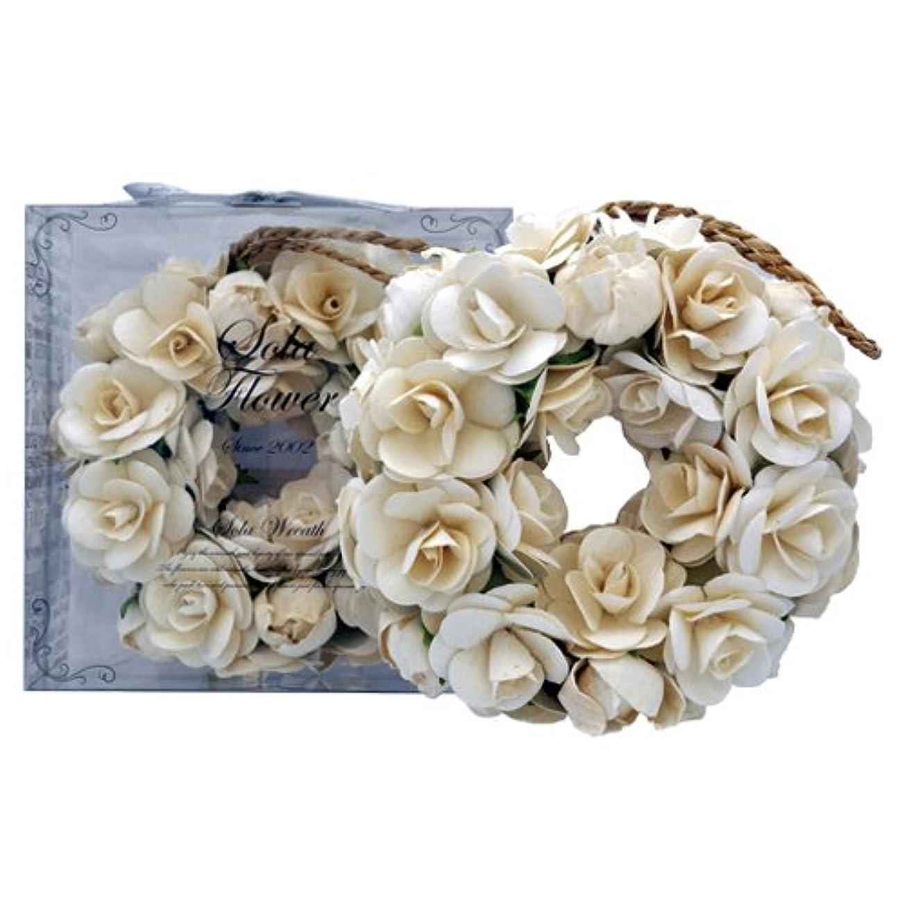 トロリーバス繁殖情報new Sola Flower ソラフラワー リース Elegant Peony エレガントピオニー Wreath