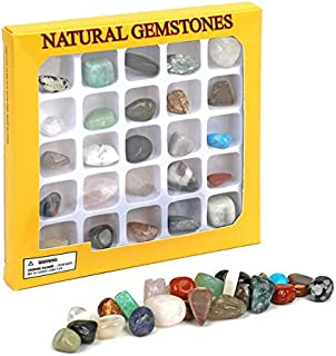 Gemstone Rock Collection Kit for Kids Geology Science Learning (Pack of 20pcs)