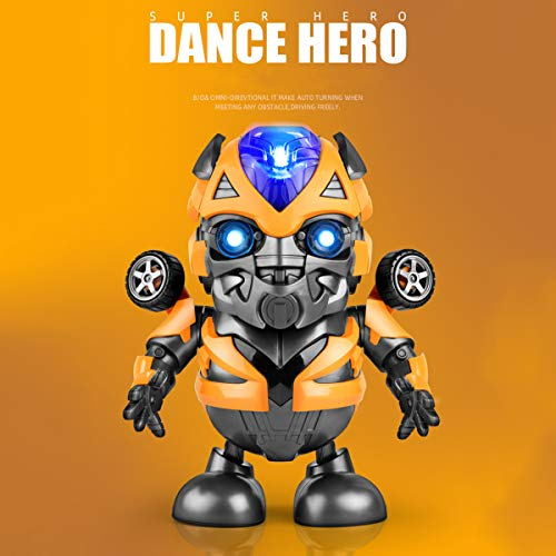 Transformers Bumblebee Dancing Robot Toy, Dance Hero Bumblebee Action Figure Toy with Music Light, Hero Anime Toy Bumblebee Electric Toys, Transformers Fans Gifts