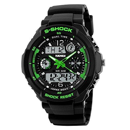 LED, orologio digitale nero Army Military orologio da polso banda di silicone orologio