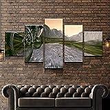 KOPASD 5 Piezas Bicicleta de montaña Cuesta Abajo de Arte de Pared impresión en Lienzo Animal Arte Moderno para decoración del hogar