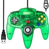 [USB Version] Classic N64 Controller, SAFFUN N64 Wired USB PC Game pad Joystick, N64 Bit USB Wired Game Stick for Windows PC MAC Linux Genesis Raspberry Pi Retropie Emulator [Plug & Play] (Green)