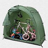 KGLOPYE Carpa Tienda de Bicicletas cobertizo para Guardar Bicicletas 190T cobertizo para Guardar Bicicletas con diseño de Ventana, Adecuado para Acampar al Aire Libre