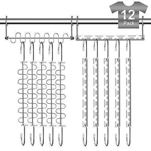 Closet Hangers Organizer Space Saving Magic Hangers for Closet Clothes Space Saver Metal Hangers 12 Pack