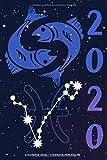 Kalender 2020 - Sternzeichen Fische: Schöner Kalender mit Sternzeichen | Wochenplaner mit 70 Seiten | 15,24 cm X 22,86 cm ( 6 X 9 Inches )