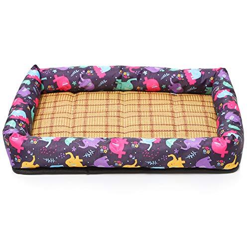 Zomer huisdier bed, Wasbare draagbare huisdier matras, met anti-slip Base, Dikke fill Geschikt voor grote, middelgrote en kleine katten en honden onder 20 kg,Purple,M