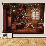 KHKJ Tapiz de Pared de árbol psicodélico Tapiz de Chimenea decoración de Navidad Manta de Pared de Cocina Manta Alfombra A5 200x150cm