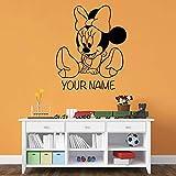 yaonuli Ratón de Dibujos Animados Vinilo calcomanía de Pared vivero Rata habitación Infantil decoración Etiqueta de la Pared decoración del hogar habitación del bebé42X35cm
